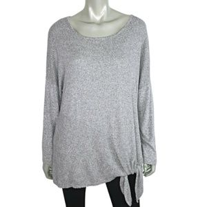 AGB Soft Knit Side Tie Top Plus Size 1X